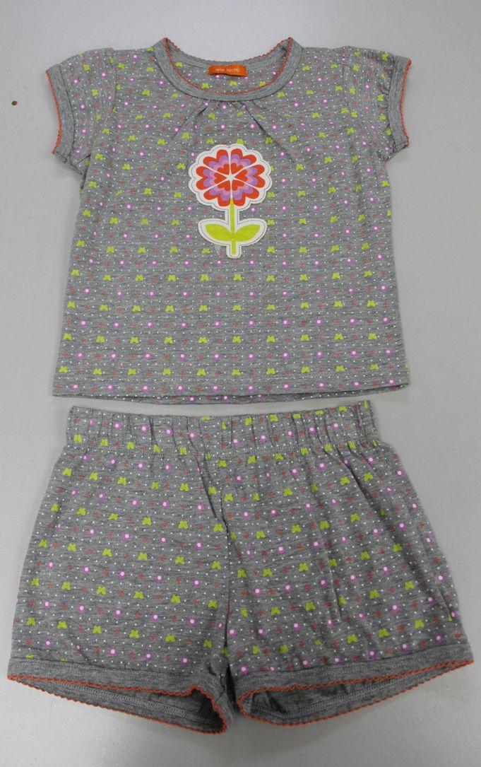 女童短袖睡衣套