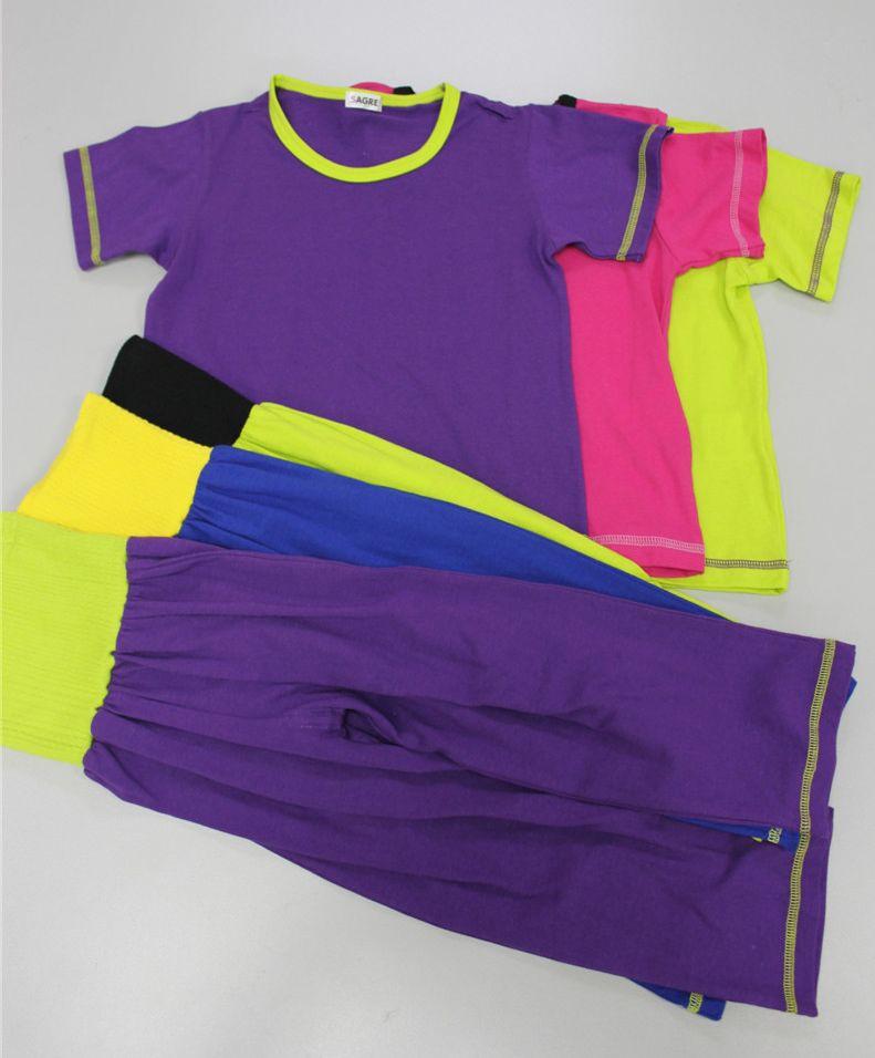 儿童腹带短袖睡衣套