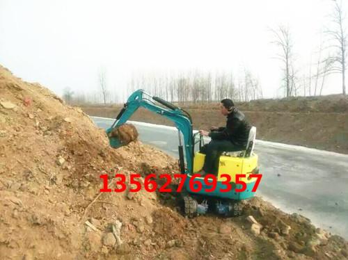 履带式挖掘机 微型小型挖土机挖沟槽深度1.4米哦