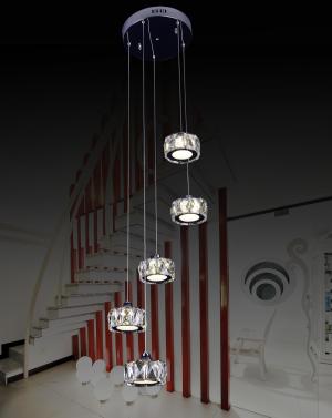 中山市古镇一点红灯饰电器厂不锈钢LED水晶灯批发(图)