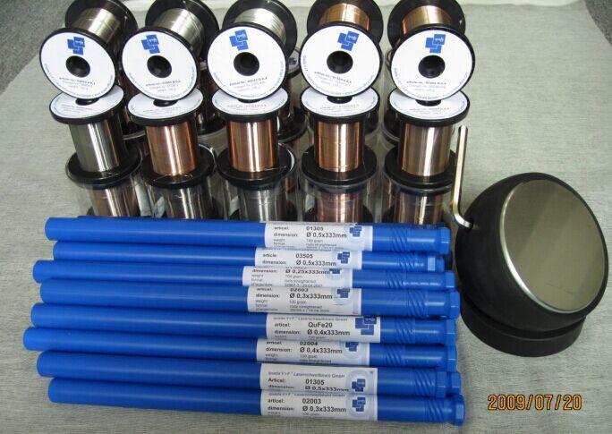 供应进口P20 718 H13 8407 NAK80 SKD11 SKD61 DC53等模具焊丝