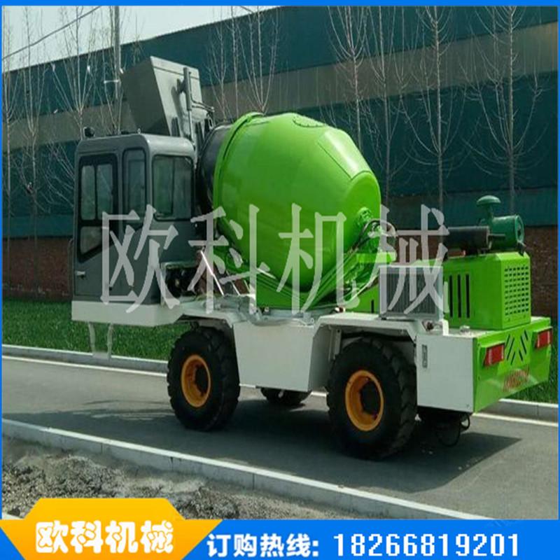 工地移动式灰罐车自动上料混凝土搅拌车水泥混凝土搅拌车