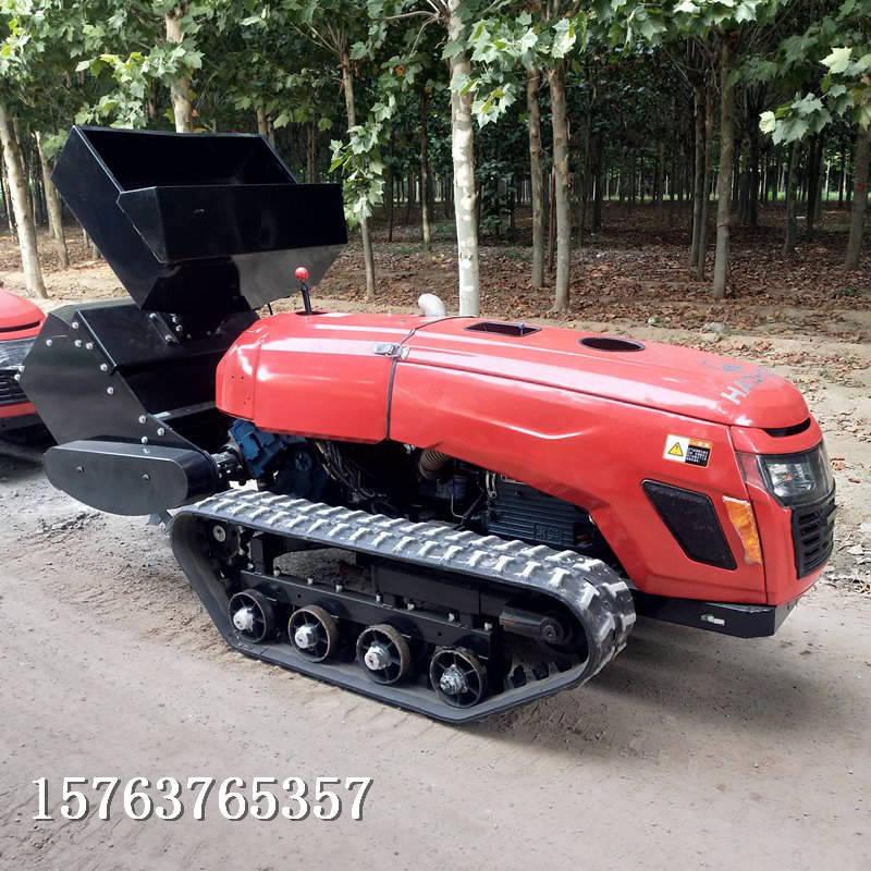 履带旋耕机图片节省很多人力遥控自走式旋耕机