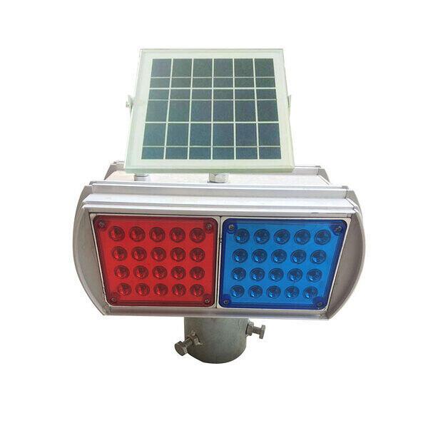 太阳能爆闪灯双面两组分体频闪光交通信号灯道路施工警示灯