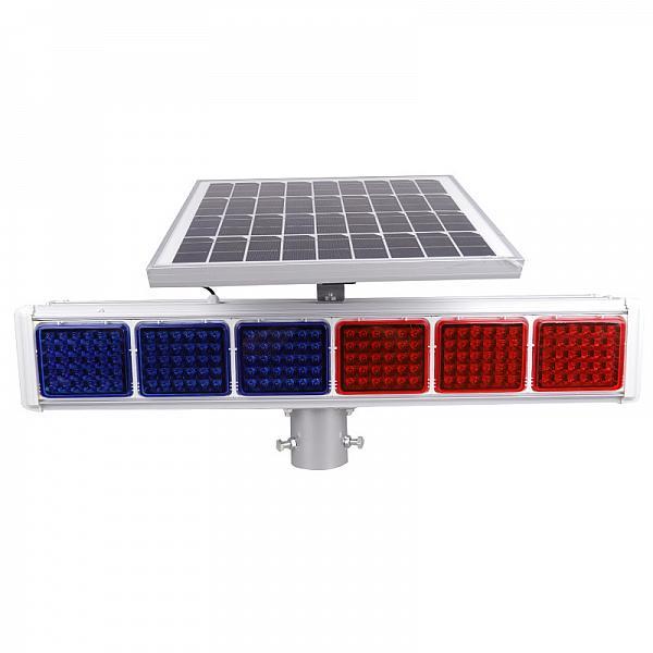 太阳能爆闪灯双面六灯分体交通指示灯
