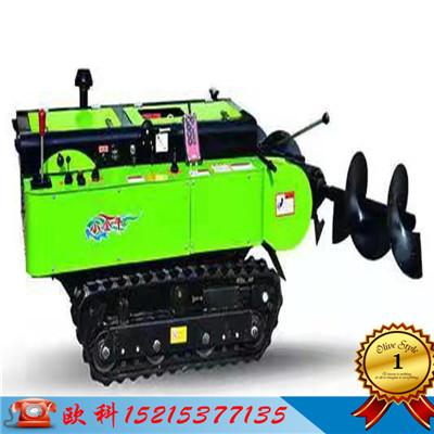 履带式开沟施肥机自走式履带旋耕回填机全自动开沟施肥机