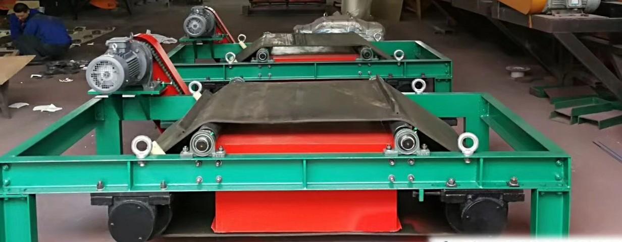 皮带输送式自动磁选机永磁带式除铁器