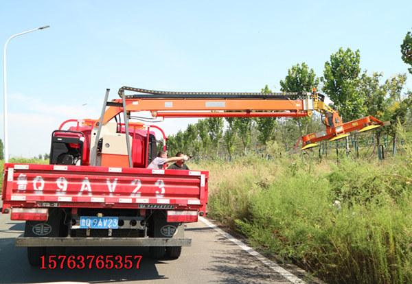 公路绿篱修剪机可降低扬尘车载式绿篱修剪机