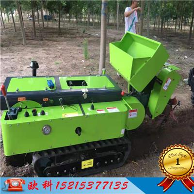 全自动开沟施肥机多功能田园管理机果园履带式开沟施肥机