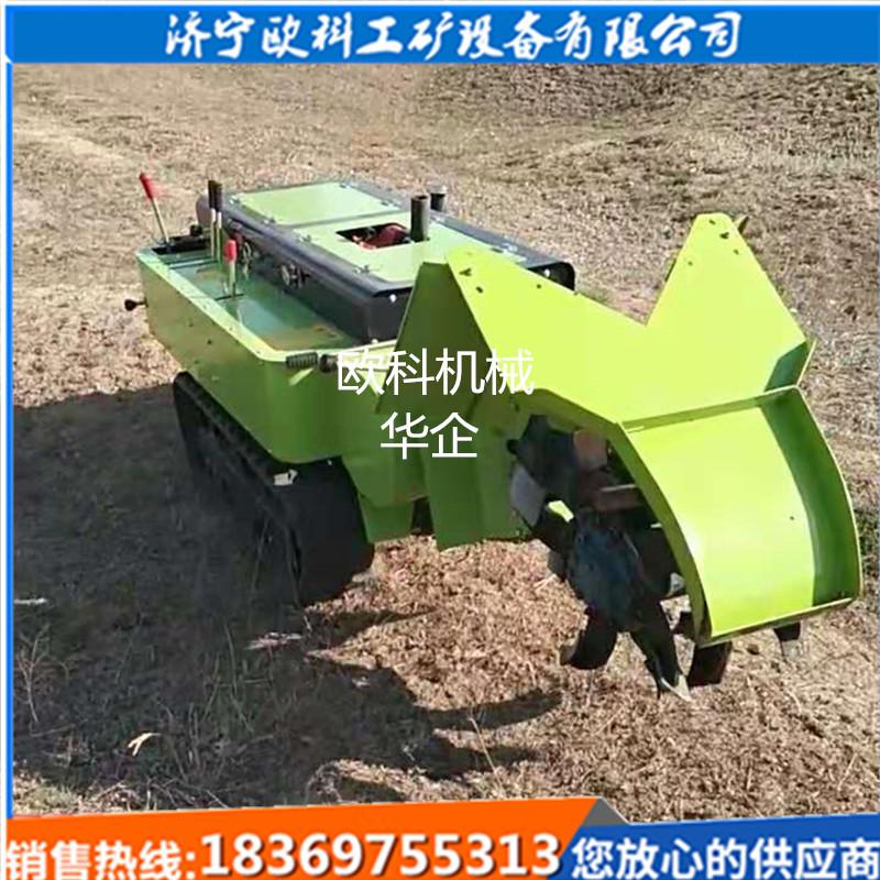 多功能履带式乘坐式微耕机半自动施肥机