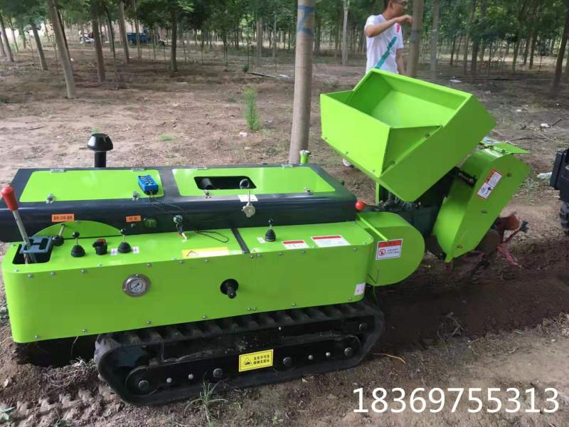 履带田园管理机旋耕机大棚耕地除草机开沟撒肥回填机