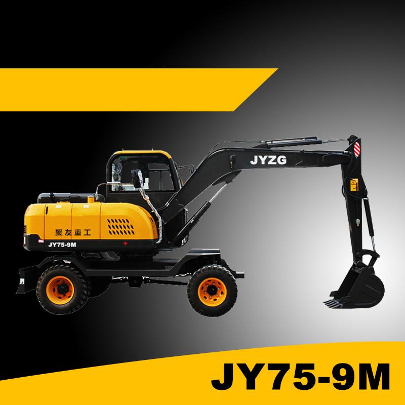 聚友新款7吨全液压轮式挖掘机