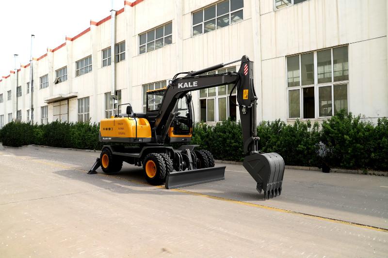 装卸轮式挖掘机抓木机挖土方石的小型轮式挖掘机定制挖掘机抓木机