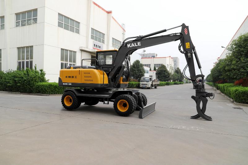小型轮式液压挖掘机市政专用机型轮式挖掘机直销轮式挖掘机抓甘蔗机